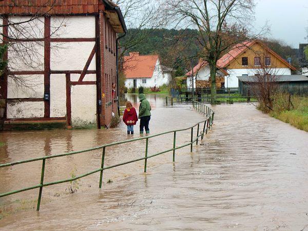 Hochwasser in Lödingsen