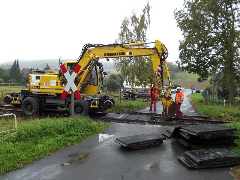 Bahnschrankenbau 2013