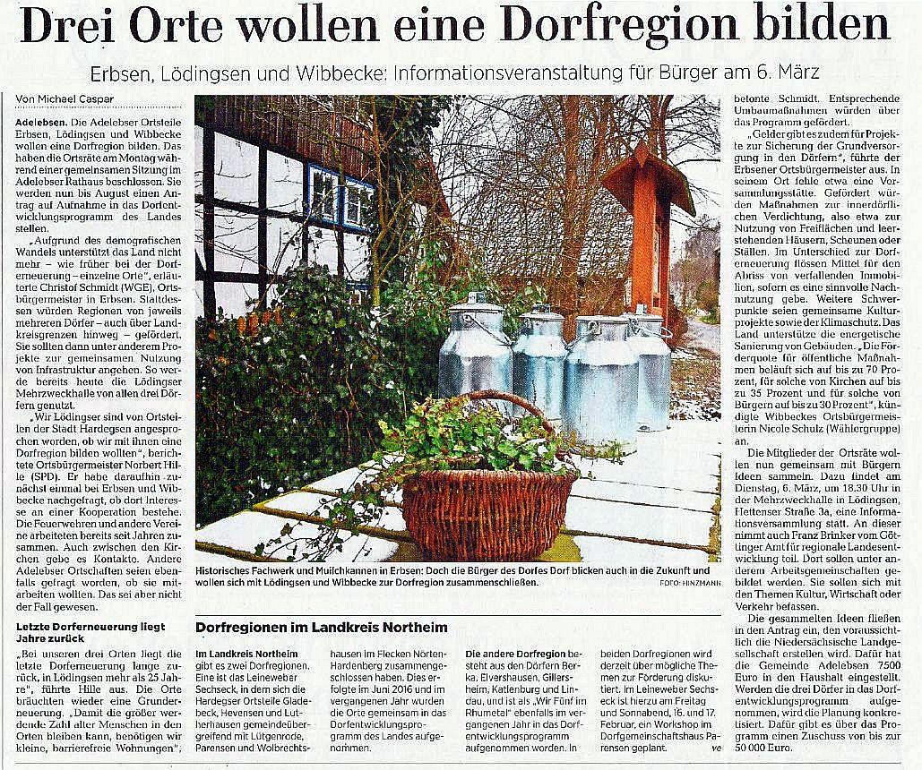 Dorfregion, GT-Bericht - Danke