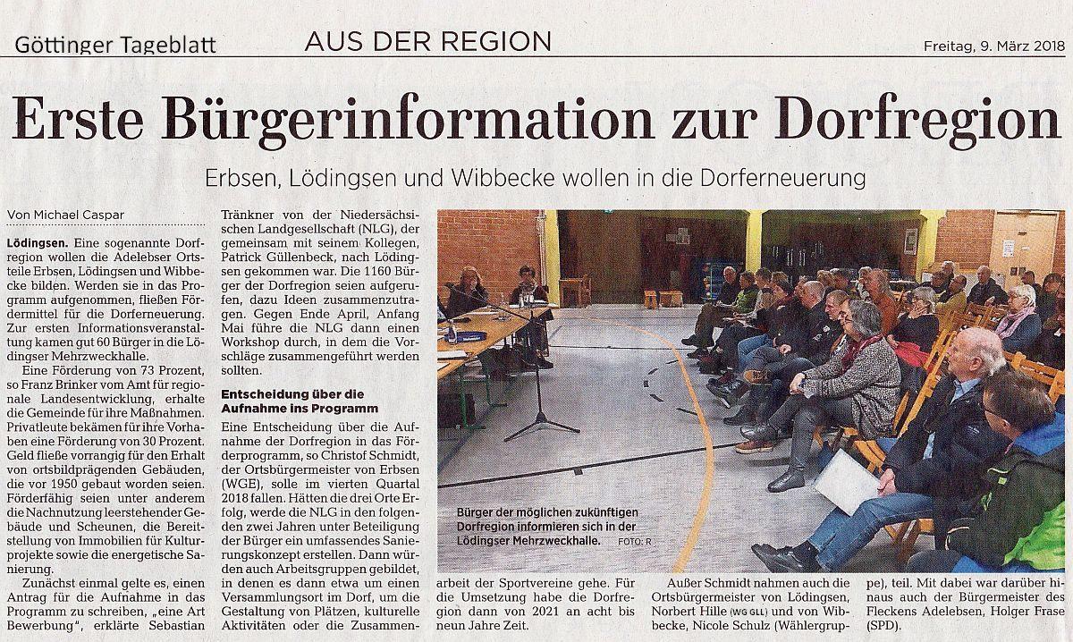 GT-Artikel, Caspar, Danke, Dorfversammlung